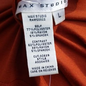 Max Studio Tops - 🆕️🍁MAX STUDIO ORANGE TIERED TUNIC/MINIDRESS